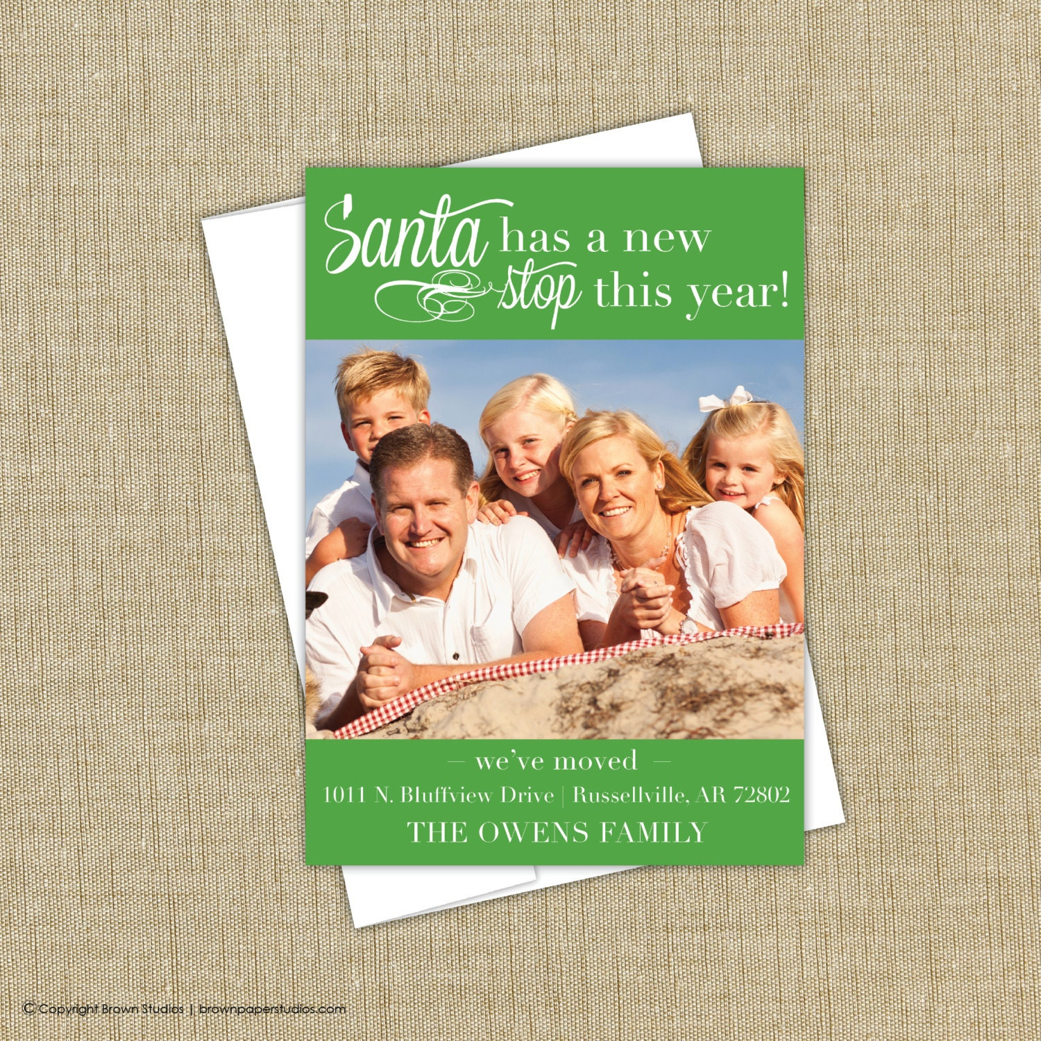 Moving Announcement Christmas Card - Christmas Moving announcement ...