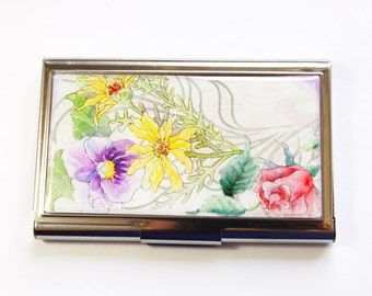 Sewing Needle Case, needle case, flower case, Needle holder, Needle organizer, Sewing supplies, Gift for Sewer, Quilter, floral case (3568)