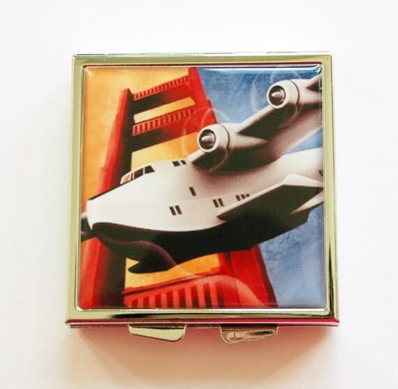Airplane Clear Favor Boxes : Airplane pill box case