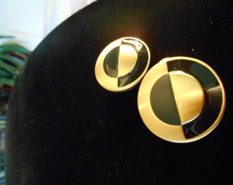 1970'S Anne Klein Circles Earrings