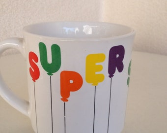Vintage mug by Zekman  says Super Secretary  Maker recycled paper products