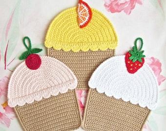 042 Crochet Pattern Cupcakes, Decor or Potholder, Amigurumi - by Zabelina Etsy