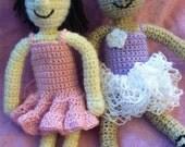 Crochet Ballerina Tutu Doll Outfit