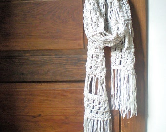 PATTERN: Jackson Square Scarf, easy crochet PD, oatmeal, fall autumn, natural cream white, InStAnT DoWnLoAd, Permission to Sell