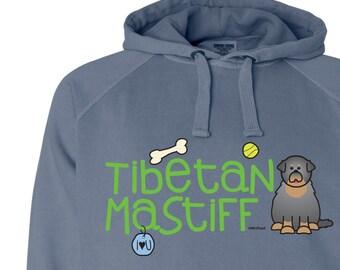 Tibetan Mastiff Doodle Garment Dyed Hoodie Sweatshirt