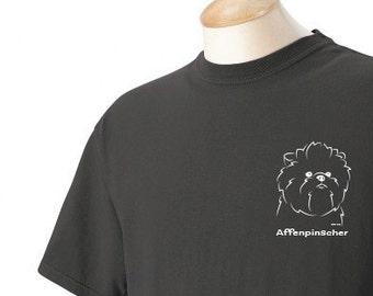 Affenpinscher Garment Dyed Cotton T-shirt