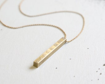 the Heavy Bar necklace