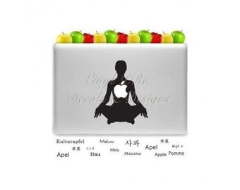 Yoga Decal Macbook Namaste Meditation SUP Paddleboard Bikram Health OM Yogi Fitness Decal for Macbook