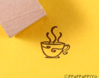 coffee cup Small Rubber Stamp