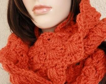 Crochet Scarf PATTERN-Chunky Crochet Circle Scarf-Autumn Scarf-Women's Gift-DIY Crafts-Instant Download PDF Pattern No.103-Lyubava Crochet