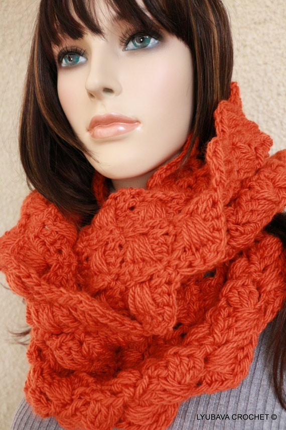 CROCHET PATTERN Infinity Scarf, Chunky Crochet Scarf, Autumn Fall Scarf, Circle Scarf, Diy Craft, Instant Download Pdf Pattern No.103