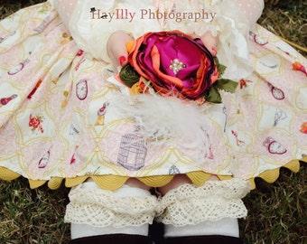 Baby Headband- Baby Girl Headband-Persnickety Headband- Avry Couture Creations- Fall Headband- Flower GIrl Headband