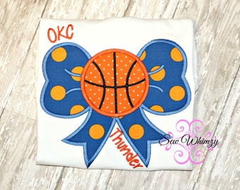 Basketball Bow Shirt- Girl's Basketball Shirt- Basketball Team shirt- Sister Basketball shirt- Little Sister basketball shirt- Team shirt
