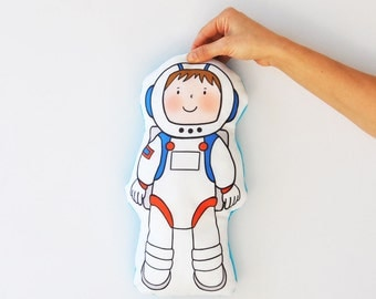 ON SALE Astronaut Toy, Space Stuffed Toy, Stuffed Pillow, Soft Stuffed, Toy Pillow, Soft Pillow