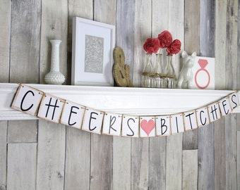 Bachelorette Banner, Bachelorette Party Ideas, Cheers Banner, Bachelorette Decor