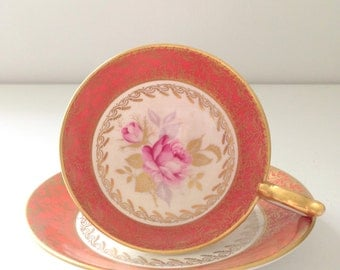 Vintage English Aynsley Fine Bone China Tea Cup and Saucer Tea Party - c. 1950s