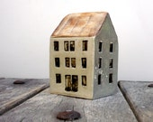Small House , Quayside Building, Ceramic Sculpture,, Miniature Architecture