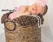 Hair Accessories-Baptism Headband-Pink -Flower Headband-Wedding-Flowers for Hair-Bridesmaid-Flower Girl-Infant-Baby-Christening