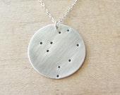 Libra Constellation Zodiac Necklace, Silver Libra Necklace, Libra Constellation Necklace, Sterling Silver Zodiac Necklace