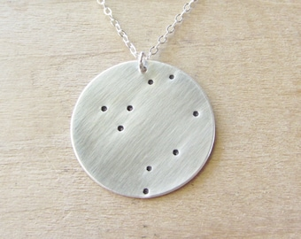 Libra Constellation Zodiac Necklace, Silver Libra Necklace, Libra Constellation Necklace, Sterling Silver Zodiac Necklace