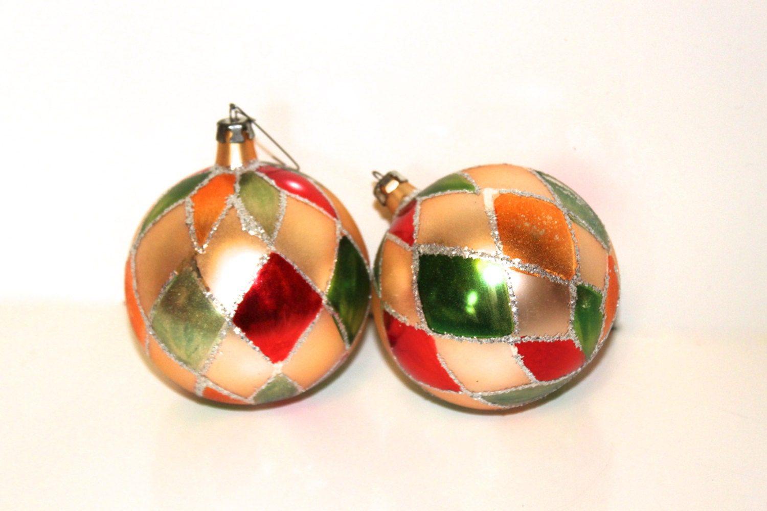 Christmas ornaments vintage s glass by peppermintandcocoa