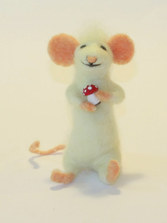Mouse, Needle Felt Mouse, Wool Mouse Toy, Mouse Art