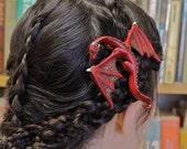 ORIGINAL FANTASY hair clip - Dragon Hair Barrette/Pin