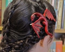 ORIGINAL FANTASY hair clip - Dragon Hair Barrette/Pin