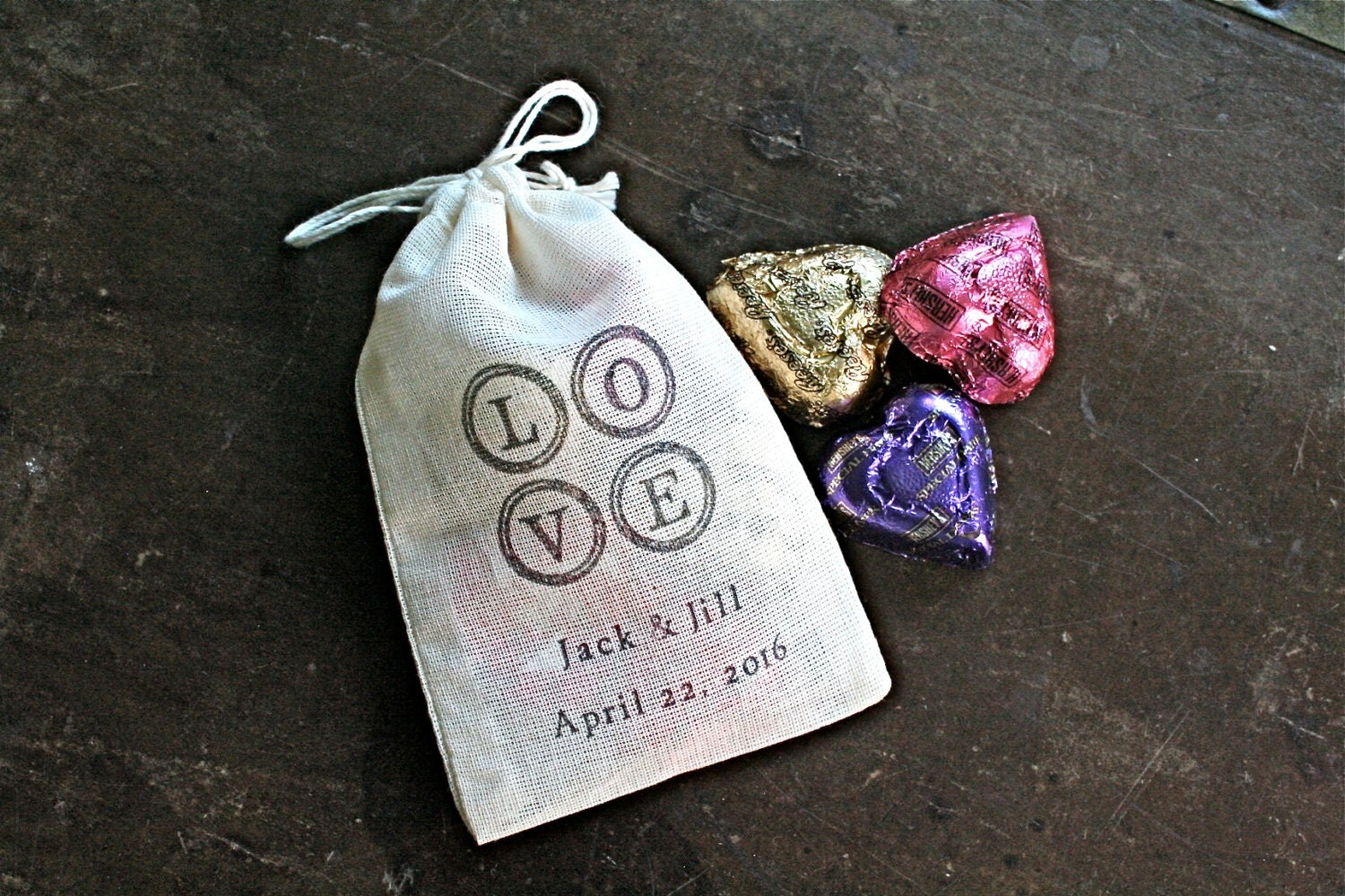 personalized wedding favor bags 3x4 5 set of 50 sted