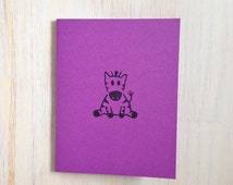 Medium Notebook: Zebra, Purple, Kids, Cute, Baby, Blank Journal, Wedding, Favor, Journal, Blank, Unlined, Unique, Gift, Small, Notebook, V15