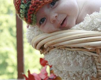 Baby Boy fall hat, crochet, newsboy, photo prop, Thanksgiving, Baby Fall Fashion, Beanie, Earth baby, Crochet Baby Boy Hat