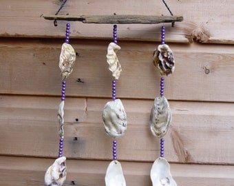 Driftwood and Oyser shell mobile