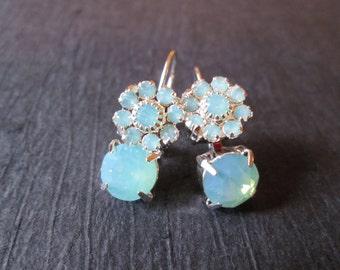 Pacific Opal Crystal Drop Earrings/ Rhinestone Earrings/Bridesmaid Earrings/ Wedding Jewelry/ Crystal Drops/ Bridal Jewelry/Opal Earrings