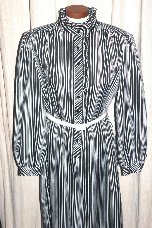 Antique Alchemy: Plus Size Vintage Secretary Dress, Black White ...