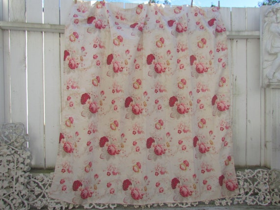 Waverly Norfolk Rose And Cream Toile Shower Curtain