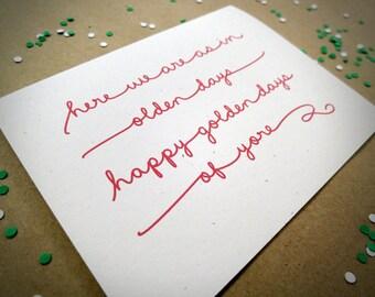 Christmas Card, Recycled, Eco Friendly, Christmas Carol Script Card