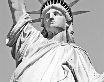 Buy 2 Get 1 FREE, Statue of Liberty, New York, NYC, Black & White, Insant Download ,Digital, Printable Fine Art Photography