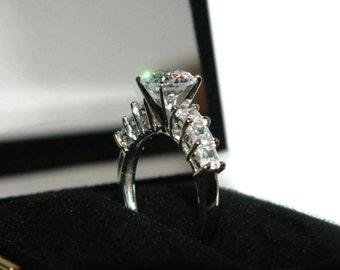 Engagement Ring, White Diamonds, Wedding Ring, Proposal Ring