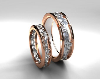 wedding band set rose gold white gold diamond wedding band mens diamond - Mens Rose Gold Wedding Rings