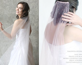 """Bridal Veil with Swarovski Crystal Spray - """"SHINE"""""""