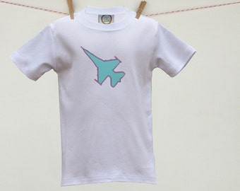 Air Force F-16 Jet Airplane Custom Applique Toddler Tee