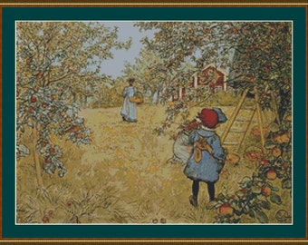 The Apple Harvest Cross Stitch Pattern