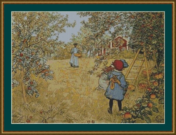 The Apple Harvest Cross Stitch Pattern /Digital PDF Files /Instant downloadable