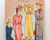 """RESERVED** Vintage Sewing Pattern mail order Home Journal pattern. Day dress bust 36"""""""
