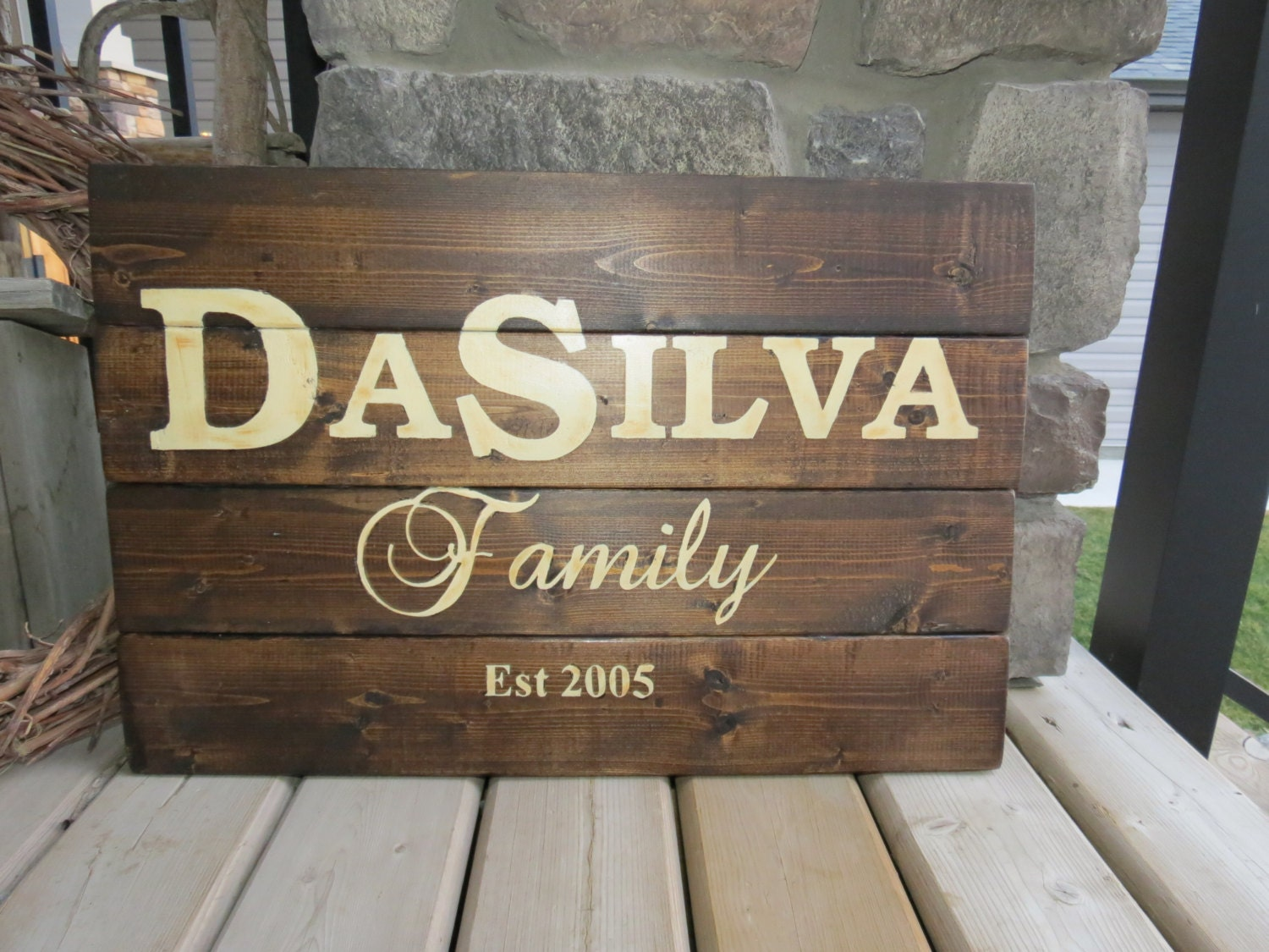 Your Family Name Customized Wood Sign Established Date Sign