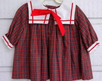 Vintage C.I. Castro Plaid Sailor Dress- New, never worn