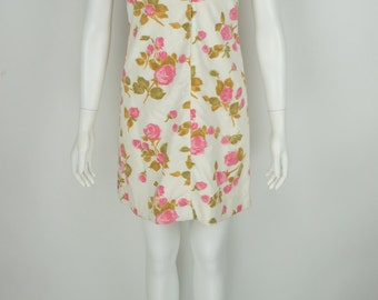 Vintage 1960's Rose Dress from Dalisay size Small