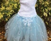 Frozen Tutu, Elsa Dress, Elsa Costume, Frozen Party, Elsa Frozen Tutu, Frozen Costume, Frozen Birthday  Favors, Blue Fairy Dress