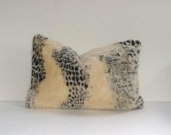 Decorative Faux Fur Cheetah Pillow Cover, Lumbar or Square, Limited Edition