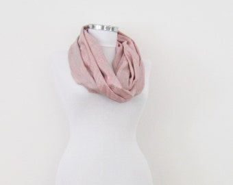 Pink paisley pashmina scarf, silky infinity scarf
